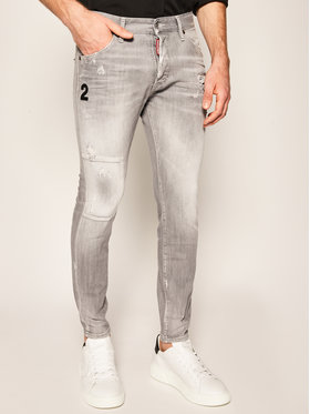 Dsquared2 Dsquared2 jeansy Skinny Fit Glam Head-Icon S74LB0694 S30260 Grigio Skinny Fit