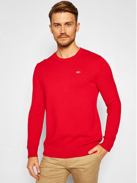 Tommy Jeans Tommy Jeans Sweater Essential Crew Neck DM0DM08801 Piros Regular Fit