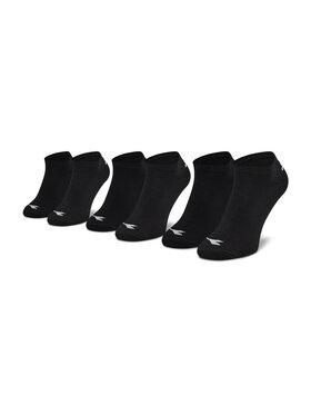 Diadora Diadora Σετ 3 ζευγάρια κοντές κάλτσες unisex Invisible DD-D9155-200 Μαύρο
