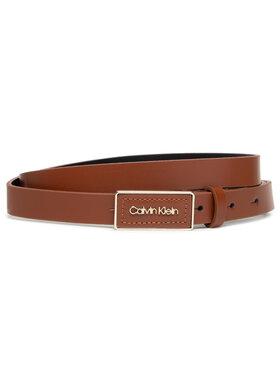 Calvin Klein Calvin Klein Dámský pásek Ck Must Plaque Belt 20Mm K60K608479 Hnědá