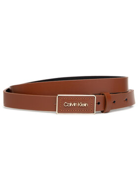 Calvin Klein Calvin Klein Ζώνη Γυναικεία Ck Must Plaque Belt 20Mm K60K608479 Καφέ