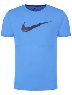 NIKE NIKE Тениска от техническо трико Breathe Run Ss Wr Po Gx CJ5386 Син Standard Fit