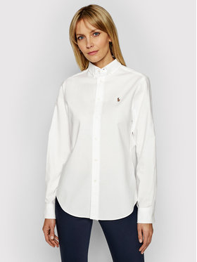 Lauren Ralph Lauren Lauren Ralph Lauren Cămașă Polo Bsr 211806181003 Alb Classic Fit