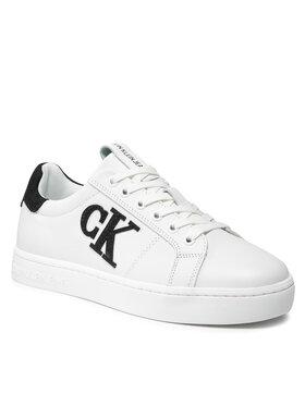 Calvin Klein Jeans Calvin Klein Jeans Sneakers Cupsole Laceup Sneaker Logo YM0YM0028501W Alb