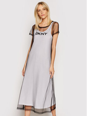 DKNY DKNY Vestito da giorno P0DD7FKC Bianco Regular Fit