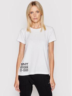 DKNY DKNY T-Shirt P1DTFDNA Biały Regular Fit