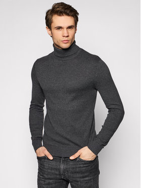 Jack&Jones Jack&Jones Golfas Emil Knit Roll 12157417 Pilka Regular Fit