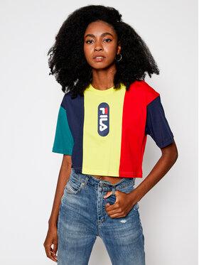 Fila Fila T-Shirt Basma Blocked Tee 687943 Bunt Cropped Fit