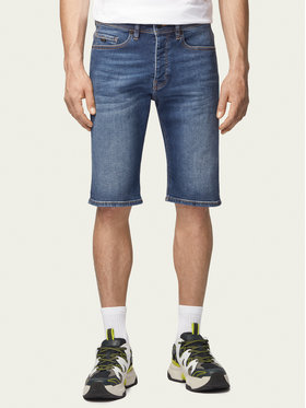 Boss Boss Szorty jeansowe Taber 50433124 Granatowy Tapered Fit