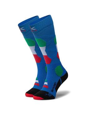X-Socks X-Socks Skarpety Wysokie Unisex Ski Patriot Italy 4.0 XSSS45W19U Niebieski