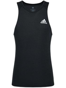 adidas adidas Тениска от техническо трико Runner Singlet GN2164 Черен Relaxed Fit