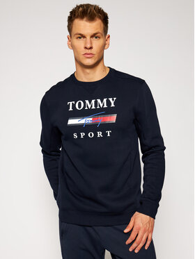 Tommy Sport Tommy Sport Bluză Graphic Fleece Crew S20S200585 Bleumarin Regular Fit