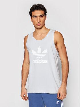 adidas adidas Tank top Trefoil GN3488 Μπλε Regular Fit