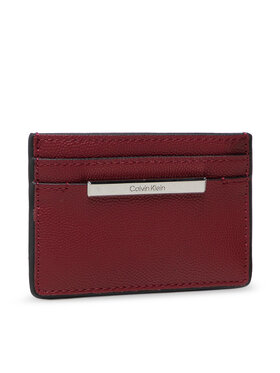 Calvin Klein Calvin Klein Etui na karty kredytowe Focused Cardholder Kaviar K60K608609 Bordowy