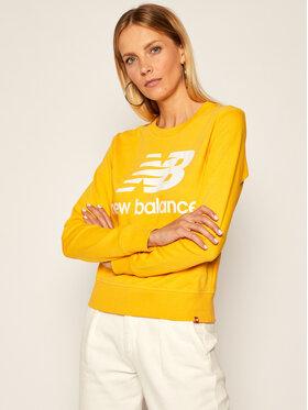 New Balance New Balance Bluza Essentials Crew NBWT03551 Żółty Relaxed Fit