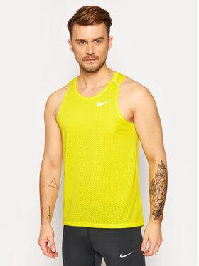 Nike Nike Тениска от техническо трико Rise 365 AQ9917 Жълт Standard Fit