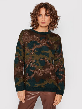 Guess Guess Sweter W1BR20 Z2W90 Zielony Relaxed Fit