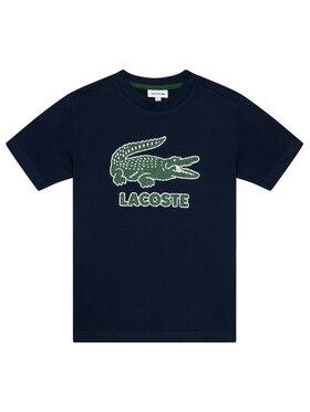 Lacoste Lacoste Marškinėliai TJ1965 Tamsiai mėlyna Regular Fit
