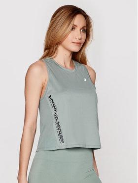 Asics Asics Тениска от техническо трико Run 2012B901 Зелен Slim Fit
