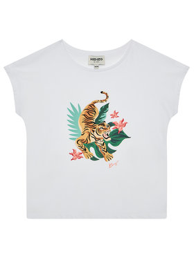 Kenzo Kenzo T-Shirt K15099 D Λευκό Regular Fit