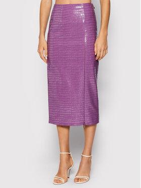 ROTATE ROTATE Пола от имитация на кожа Leeds Pencil Skirt RT546 Виолетов Regular Fit