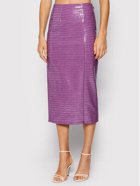 ROTATE ROTATE Sukně z imitace kůže Leeds Pencil Skirt RT546 Fialová Regular Fit