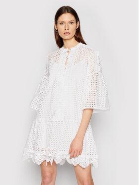 Pinko Pinko Sukienka codzienna Sosia 1N132P 8508 Biały Regular Fit