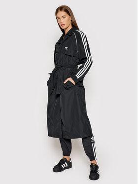 adidas adidas Trenčkot adicolor Classics H35630 Černá Regular Fit
