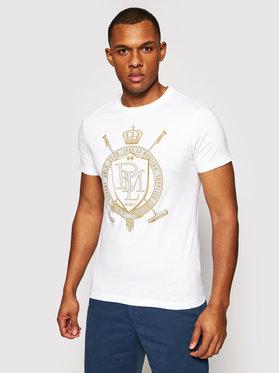 La Martina La Martina T-shirt RMRE02 JS206 Bianco Slim Fit
