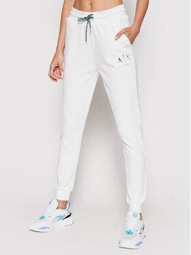 Armani Exchange Armani Exchange Pantaloni da tuta 3KYP76 YJ3AZ 1100 Bianco Regular Fit