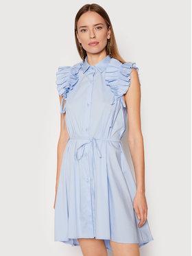 Rinascimento Rinascimento Košilové šaty CFC0017910002 Modrá Regular Fit