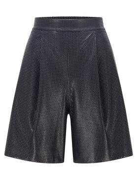 Boss Boss Kratke hlače od imitacije kože C_Tafy 50449100 Crna Regular Fit