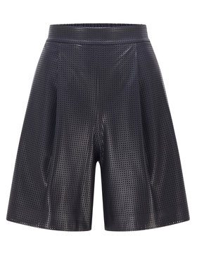 Boss Boss Shorts aus Kunstleder C_Tafy 50449100 Schwarz Regular Fit