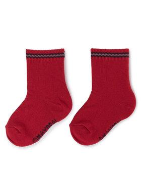 Mayoral Mayoral Sada 3 párů dětských vysokých ponožek 10674 Červená