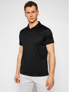 KARL LAGERFELD KARL LAGERFELD Тениска с яка и копчета Press Button 745000 511200 Черен Regular Fit