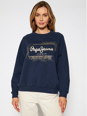 Pepe Jeans Pepe Jeans Sweatshirt Andrea PL581070 Dunkelblau Relaxed Fit