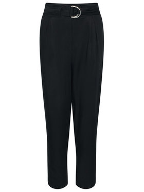 Calvin Klein Calvin Klein Текстилни панталони Tencel Paper Bag K20K202127 Черен Regular Fit