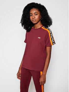 Fila Fila T-Shirt Tandy 687686 Bordowy Regular Fit