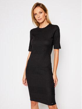 Superdry Superdry Sukienka dzianinowa Nyc Multi Rib W8010379A Czarny Slim Fit