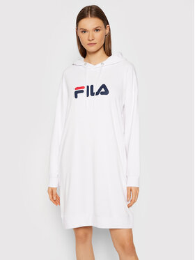 Fila Fila Трикотажна сукня Elish 688928 Білий Oversize