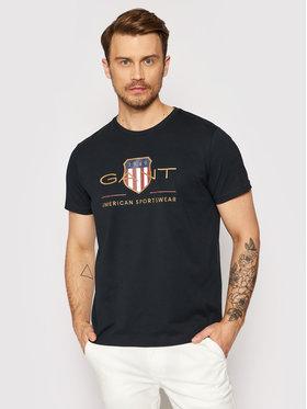 Gant Gant T-shirt Archive Shield 2003099 Crna Regular Fit