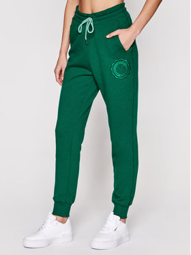 PLNY LALA PLNY LALA Pantaloni da tuta Liptsitck Travel PL-SP-TV-00050 Verde Regular Fit