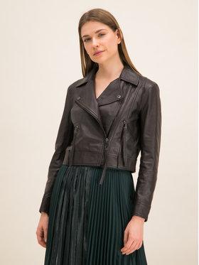 MAX&Co. MAX&Co. Giacca di pelle Delia 64415020 Marrone Slim Fit