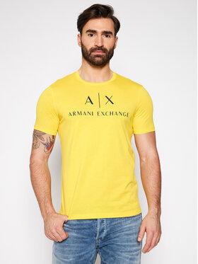Armani Exchange Armani Exchange Marškinėliai 8NZTCJ Z8H4Z 1620 Geltona Regular Fit