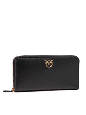 Pinko Pinko Veľká dámska peňaženka Ryder Wallet Zip Around L Simply AI 21-22 PLTT 1P22GW Y6XT Čierna