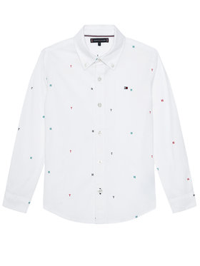 TOMMY HILFIGER TOMMY HILFIGER Camicia Aop Oxford KB0KB06178 M Bianco Regular Fit