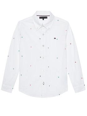 TOMMY HILFIGER TOMMY HILFIGER Koszula Aop Oxford KB0KB06178 M Biały Regular Fit