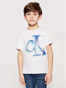Calvin Klein Jeans Calvin Klein Jeans T-shirt Pixelated Monogram IB0IB00850 Blanc Regular Fit