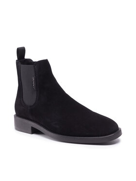 Gant Gant Členková obuv s elastickým prvkom Brockwill 23653176 Čierna