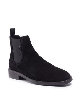 Gant Gant Kotníková obuv s elastickým prvkem Brockwill 23653176 Černá
